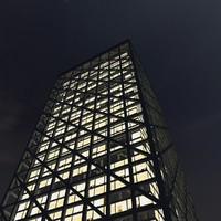 3d new skyscraper night model