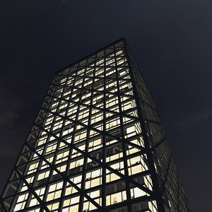3d new skyscraper night model