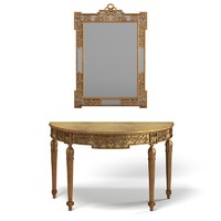 Chelini Classic Console Table with Mirror