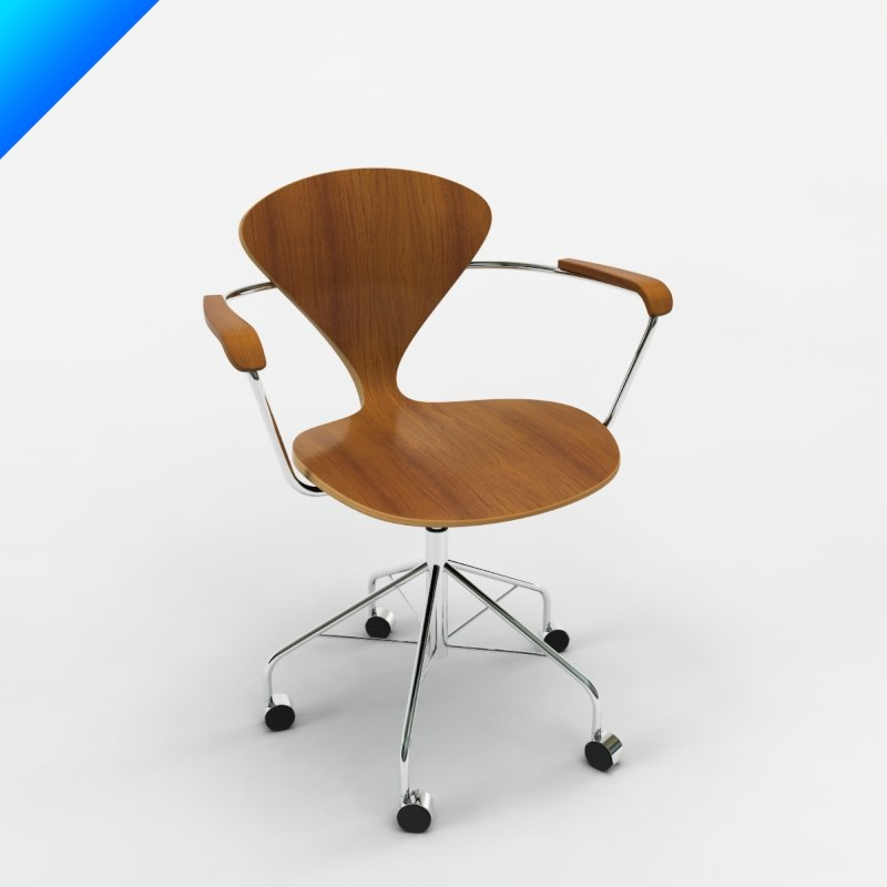 cherner task chair arms 3d obj
