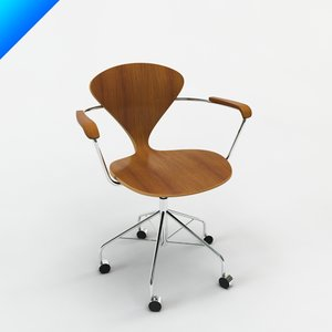 cherner task chair arms 3d obj