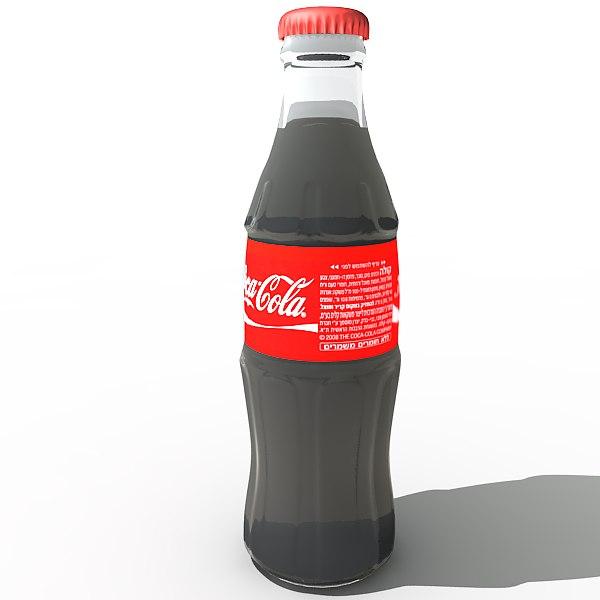 coca cola classic bottle 3d max