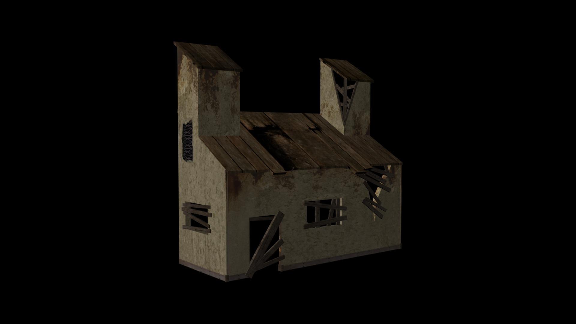 rust house mmo 3d model