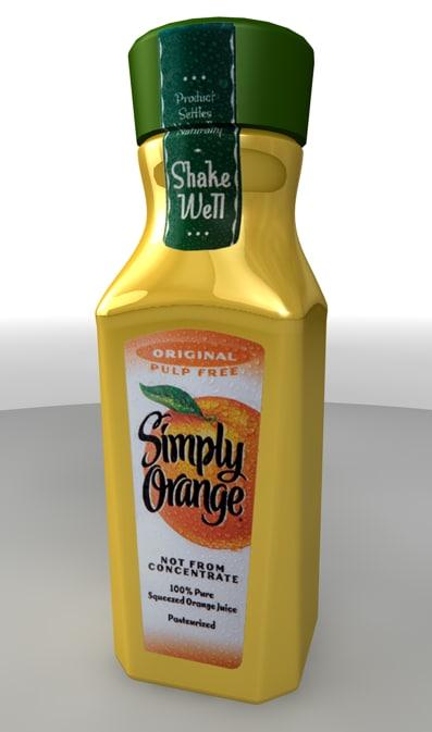 3ds max bottle simply orange juice