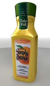 3ds max bottle simply orange juice