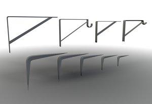 3d shelf brackets