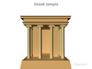greek temples small 3d model
