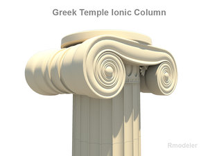 c4d column greek ionic temple