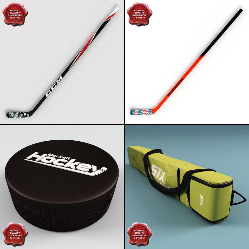 3d model hockey stick v2