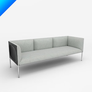 3dsmax hollow 3-seat sofa 202