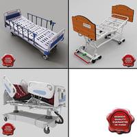 3d model hospital beds v2