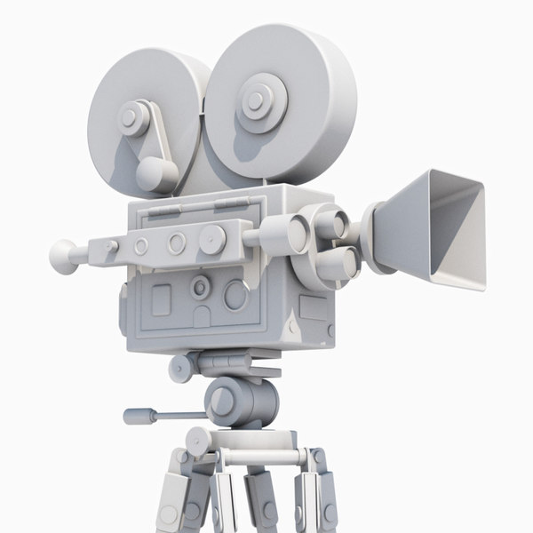 3d model film movie camera