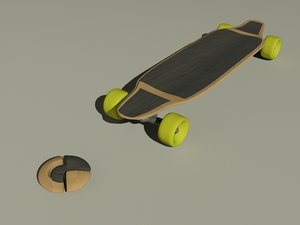 3d longboard long board model