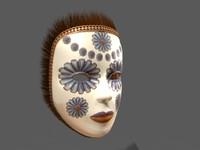 3d model of venetian mask