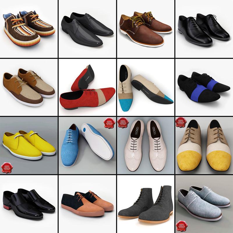 3d men shoes v10