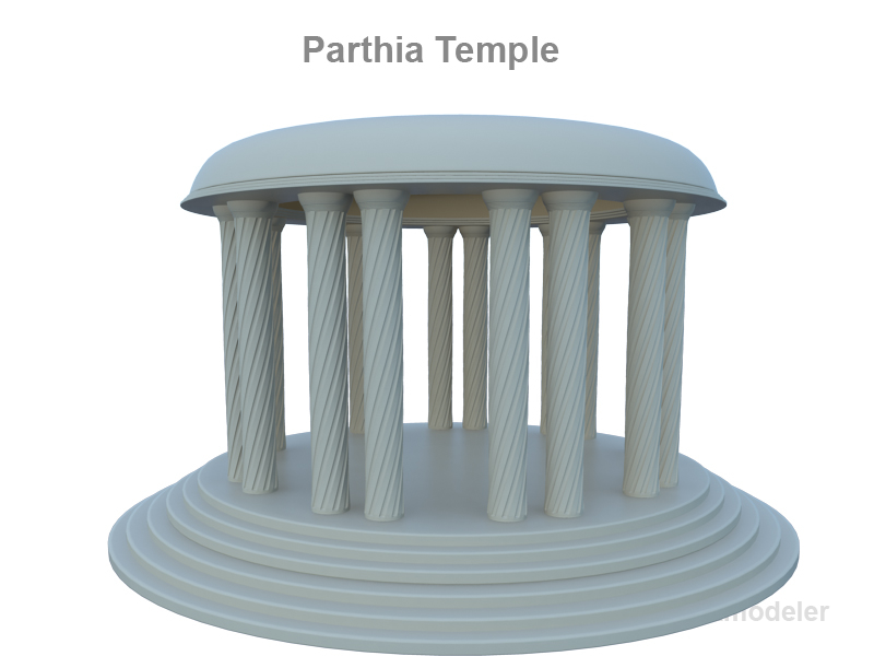 3d parthia temple model