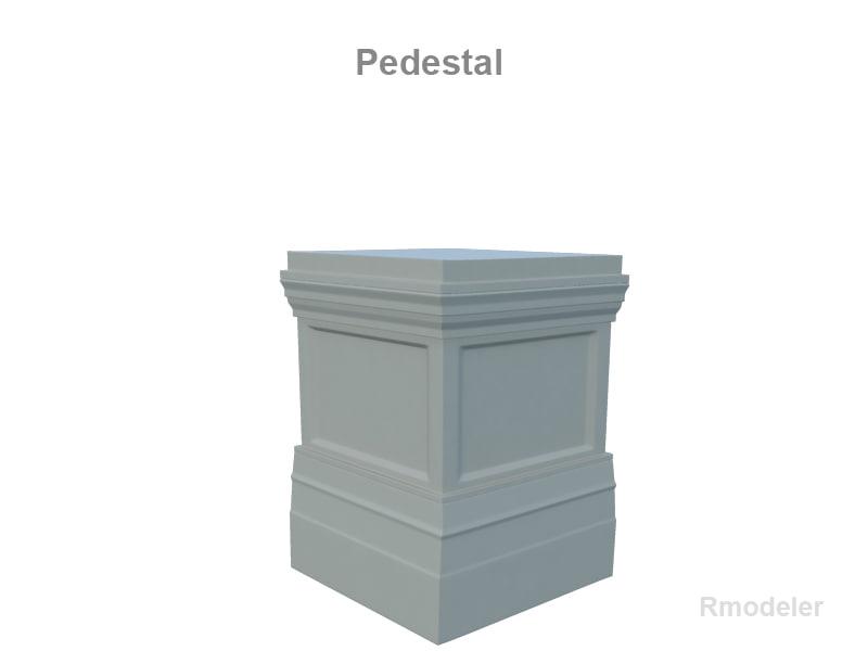 3d pedestal statue