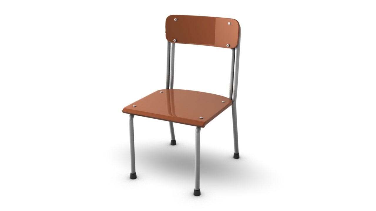 3d model simple school chair