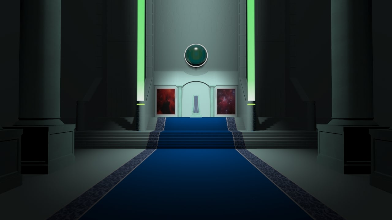 3d future throne room model