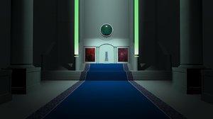 3d future throne room model