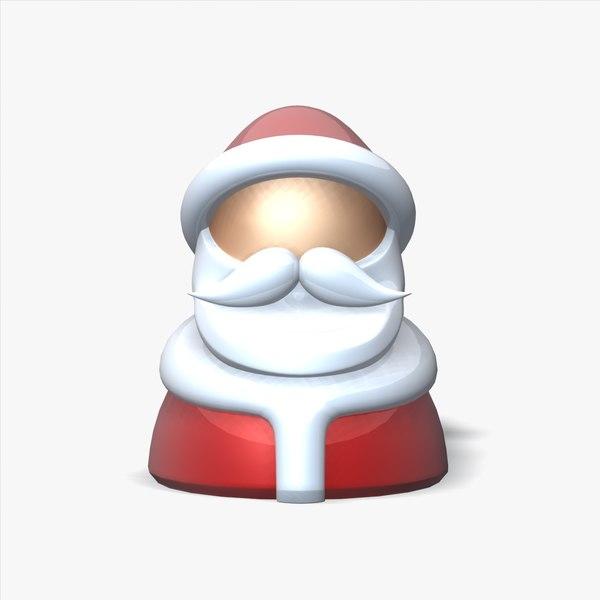 3d santa claus toy figure