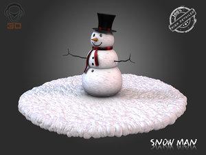 snow man 3d 3ds