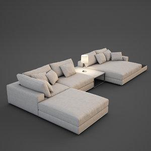 realistic sofa 3d max