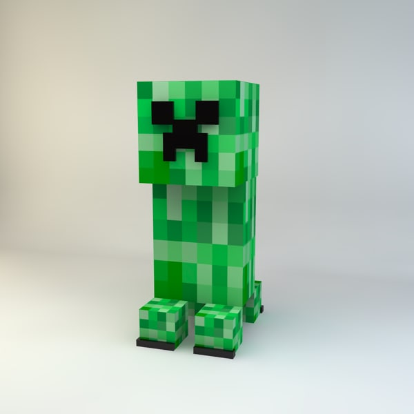 3d 3ds minecraft creeper
