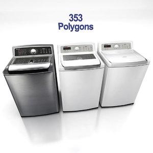 3d model of washing machines