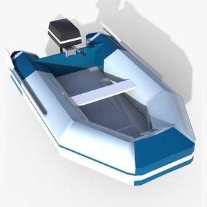 zodiac motor boat 3d max