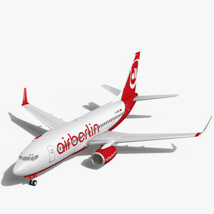 airberlin boeing 737-700w 3d max