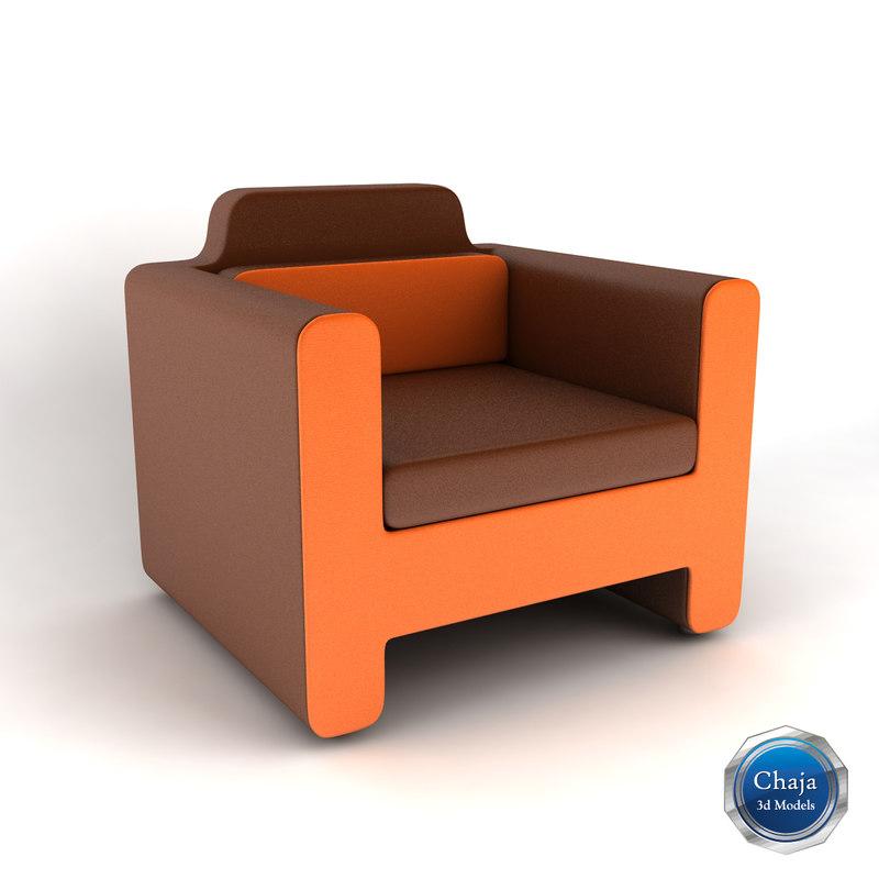 armchair chair 3d max