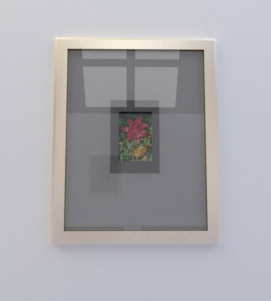 3d model flower painting 35mm
