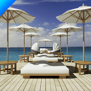3ds beach furniture