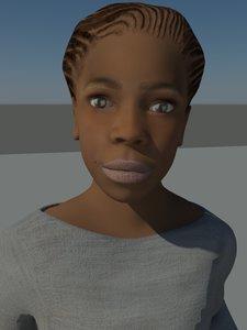 teenage human character 3d max