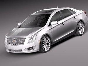 3d cadillac xts 2013 sedan model