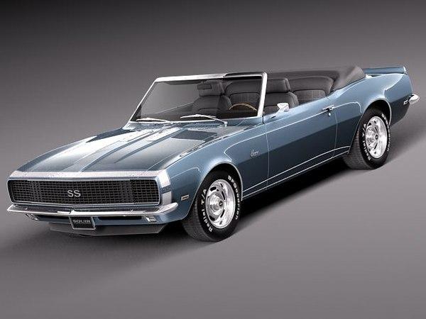 3d model chevrolet camaro ss rs