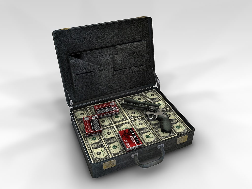 3d suitcase case cash model