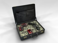 Suitcase Full of Cash Money