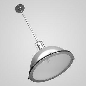 chrome ceiling lamp 08 3d max