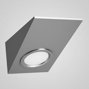 3d model single ceiling-wall halogen light