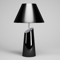 3d black desk lamp 50