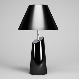 3d black desk lamp 50