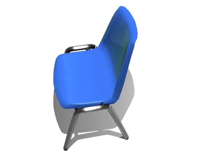 3d model plastic chair