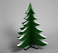 3d model decorative christmas tree