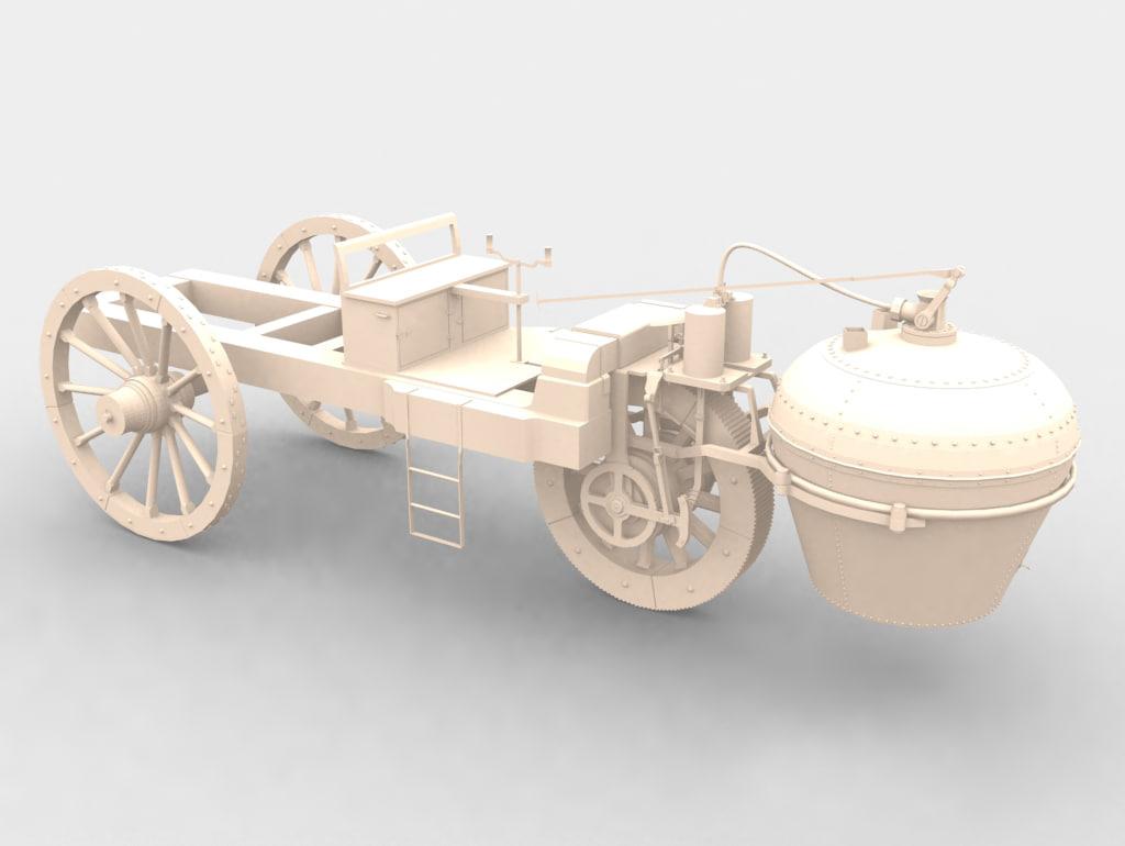 3d model nicolas cugnot s steam