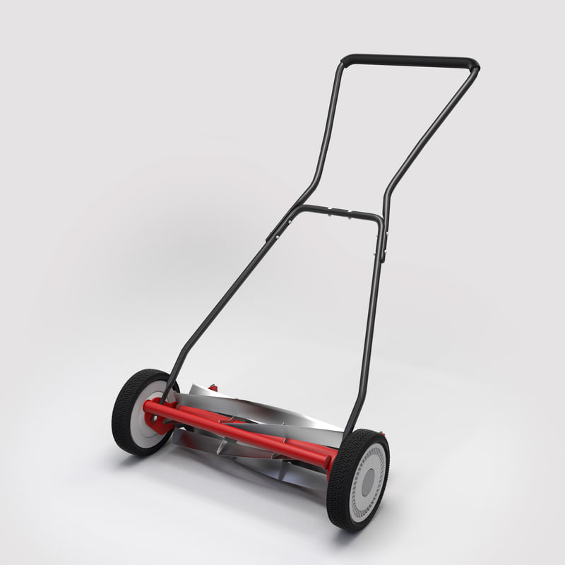 reel mower 3d model
