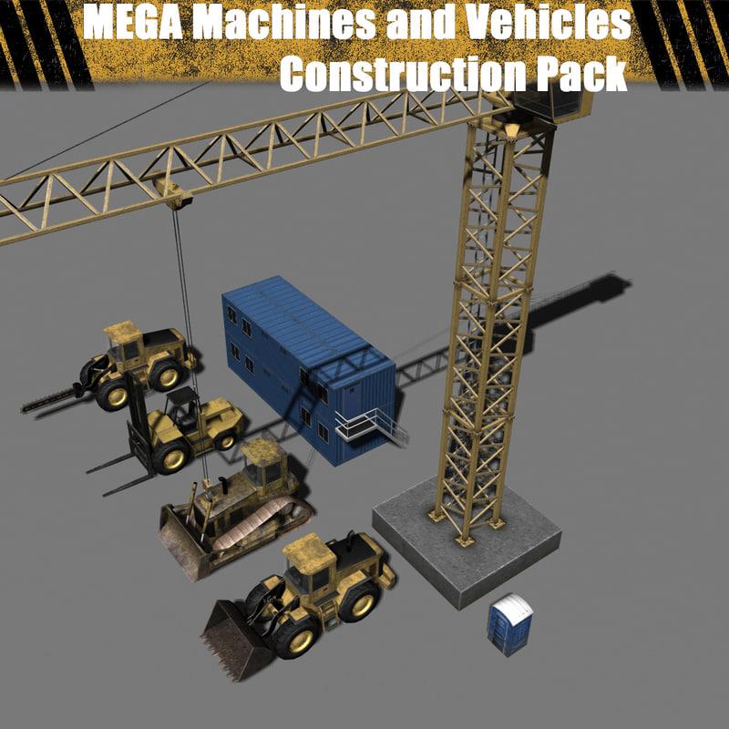 3d model mega - construction pack