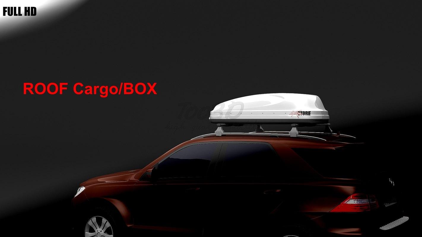 3d roof cargo box car