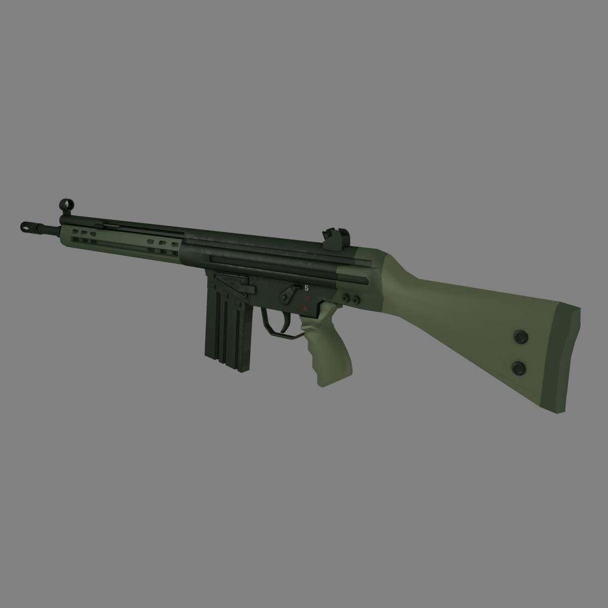 3d g3 rifle model